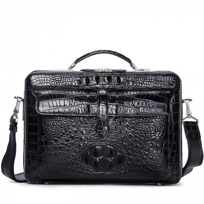 Crocodile Messenger Bag Laptop Briefcase Satchel Shoulder Bag