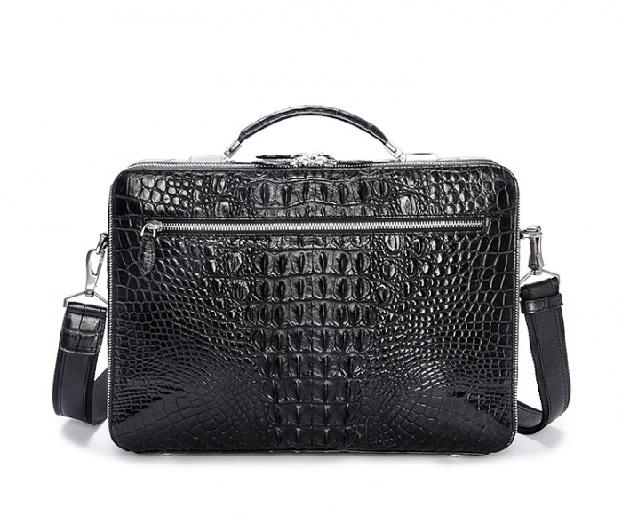 Crocodile Messenger Bag Laptop Briefcase Satchel Shoulder Bag-Back
