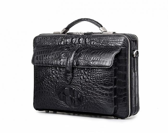 Crocodile Messenger Bag Laptop Briefcase Satchel Shoulder Bag-Micro Side