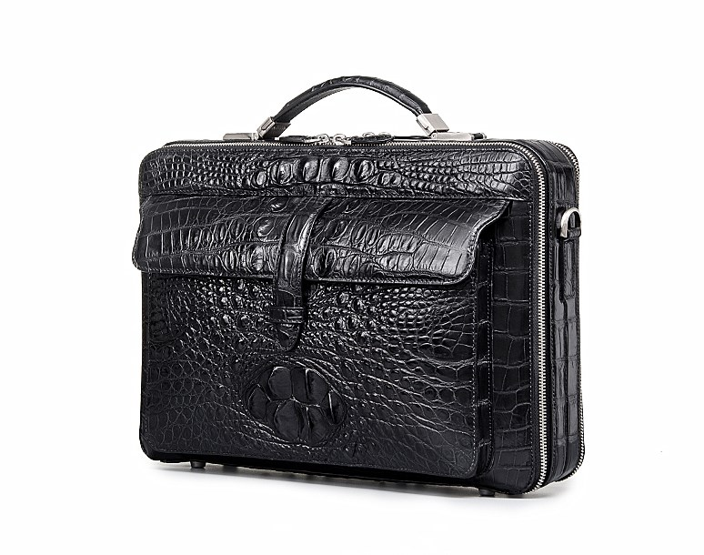 Crocodile Messenger Bag Laptop Briefcase Satchel Shoulder Bag-Micro Side 53614defff2d8
