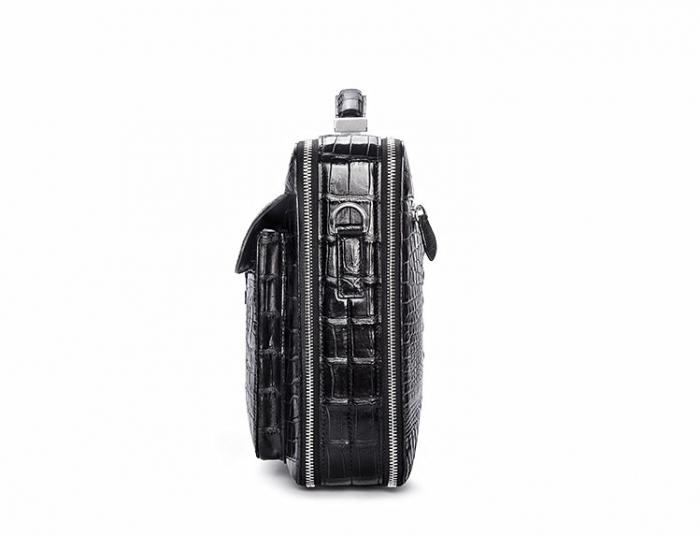 Crocodile Messenger Bag Laptop Briefcase Satchel Shoulder Bag-Side