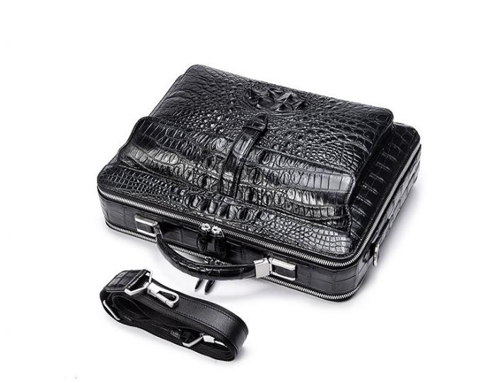 Crocodile Messenger Bag Laptop Briefcase Satchel Shoulder Bag-Strap