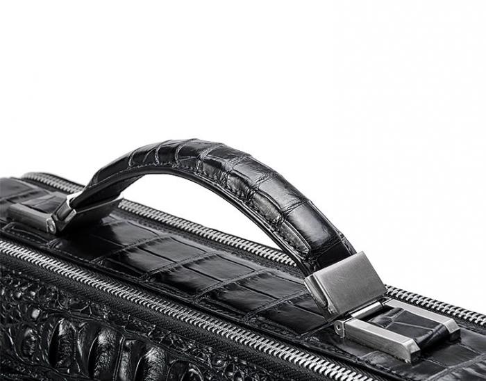 Crocodile Messenger Bag Laptop Briefcase Satchel Shoulder Bag-Top Handle