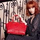 Crocodile Skin Handbag-Red