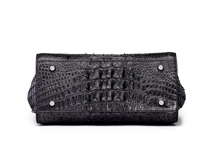 Crocodile Tote Bags Top Handle Shoulder Handbags with Zipper-Bottom