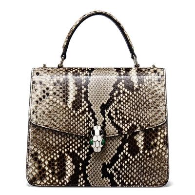 Designer Python Skin Tote Bag Purse Crossbody Bag