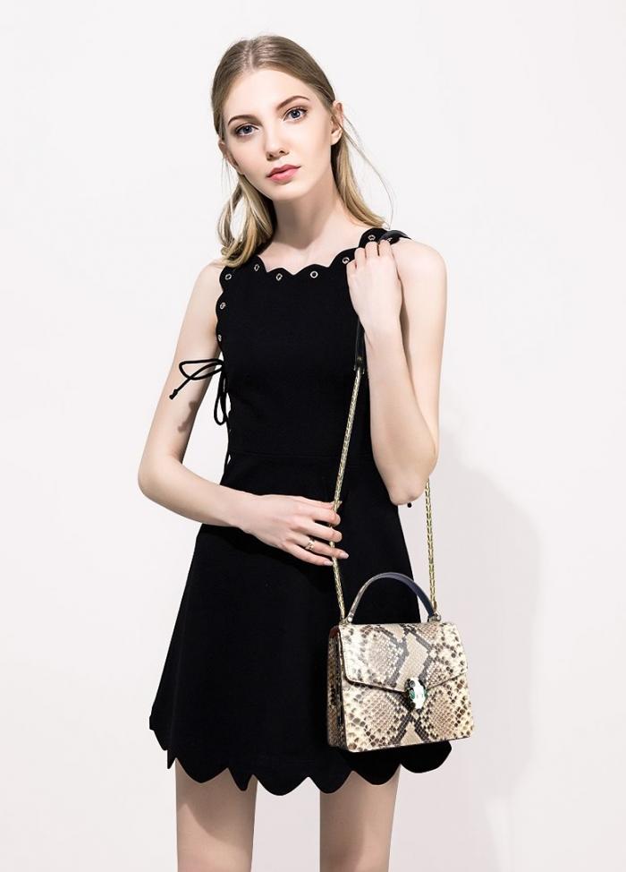 Designer Python Skin Tote Bag Purse Crossbody Bag for Women