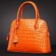 Genuine alligator leather handbag-Orange