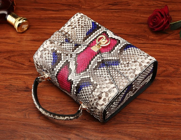 Python Skin Handbag for Women