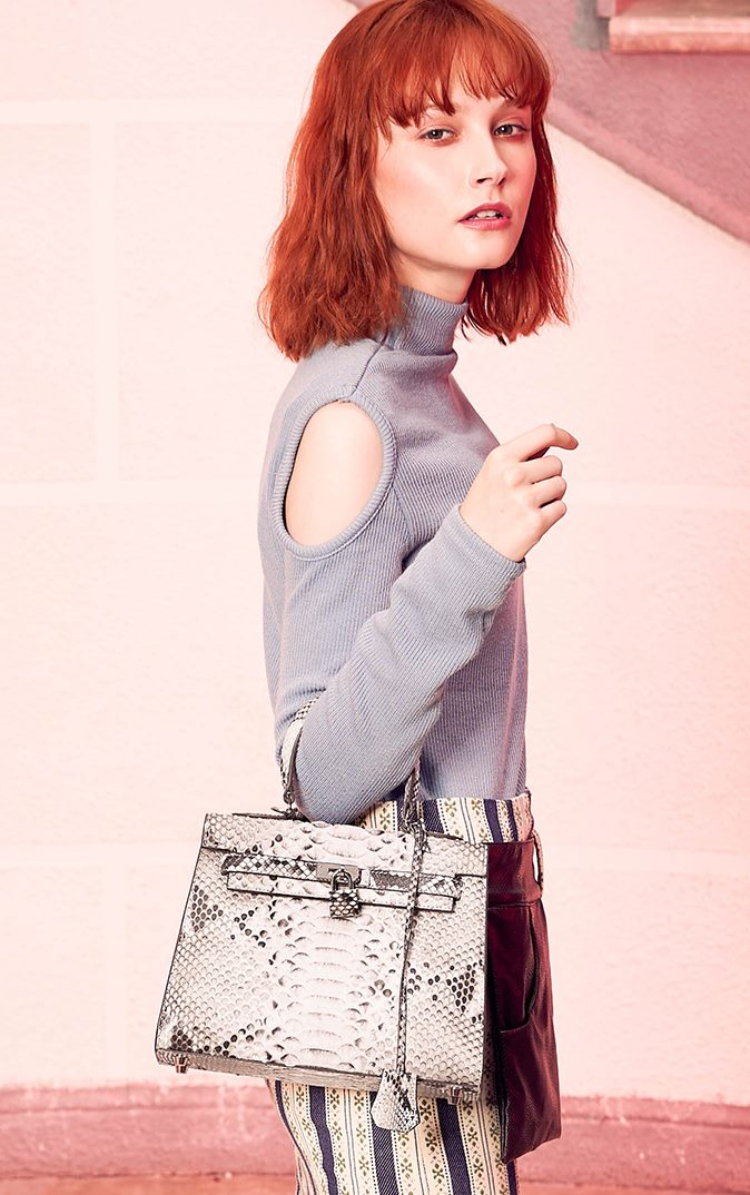 Python skin handbags