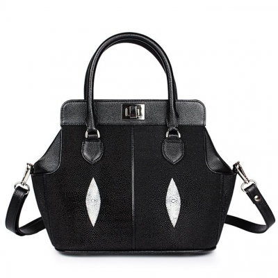 Classic Winged Stingray Leather Top-handle Tote