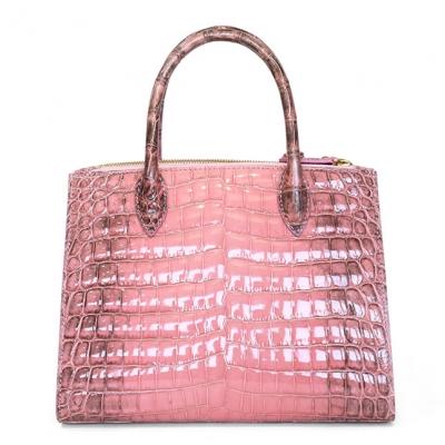 Designer Alligator Leather Top Handle Satchel Tote Bag