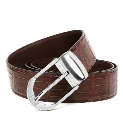 Fashion Alligator Leather Belt for Businessmen-1