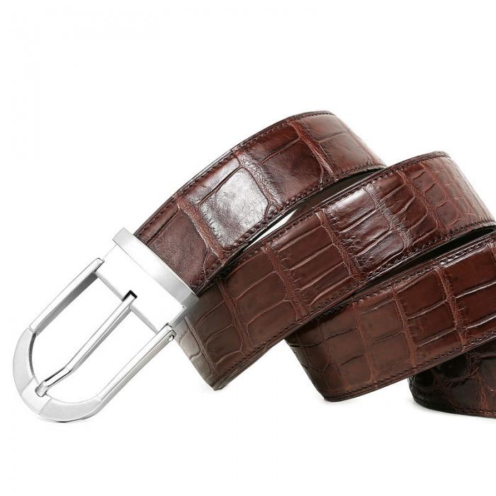 Fashion Alligator Leather Belt for Businessmen-2