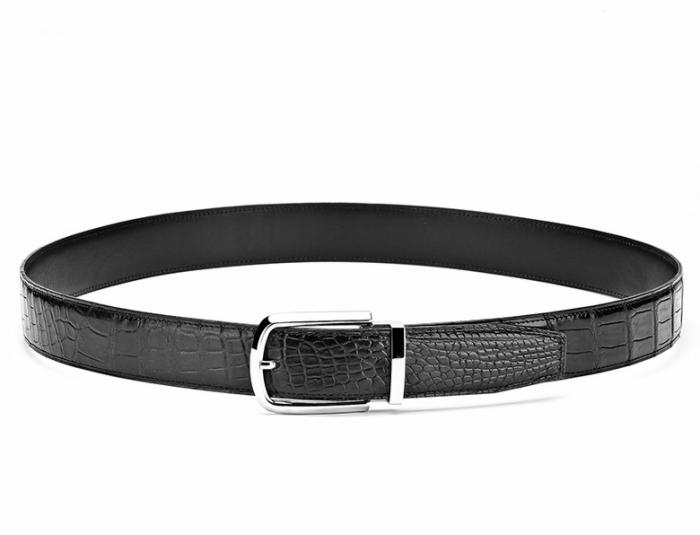 Mens Alligator Belt Formal Alligator Adjustable Dress Belt