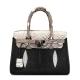 Stingray Leather Handbag Padlock Bag