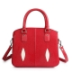 Stingray Leather Top-handle Tote Bag Crossbody Shoulder Bag-Red