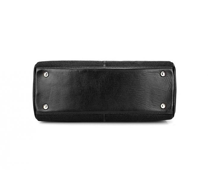 Stylish Stingray Leather Handbag Padlock Bag for Women-Bottom