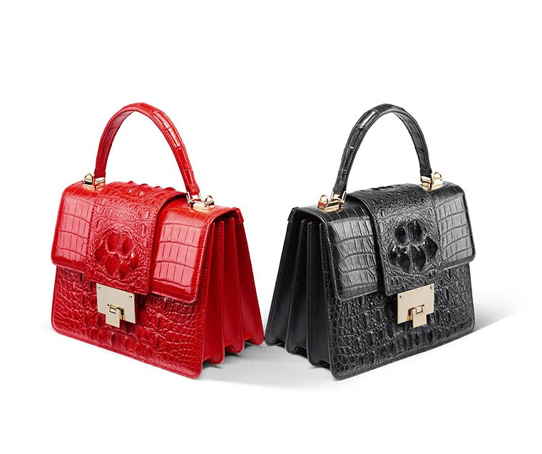 ladies crocodile bag with your outfit