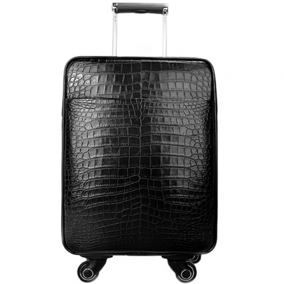 Alligator Luggage Alligator Suitcase with Spinner Wheels