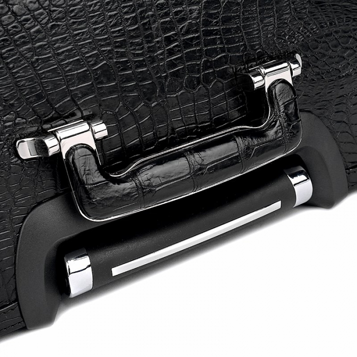 Classic Alligator Luggage Alligator Suitcase with Spinner Wheels-Top Handle