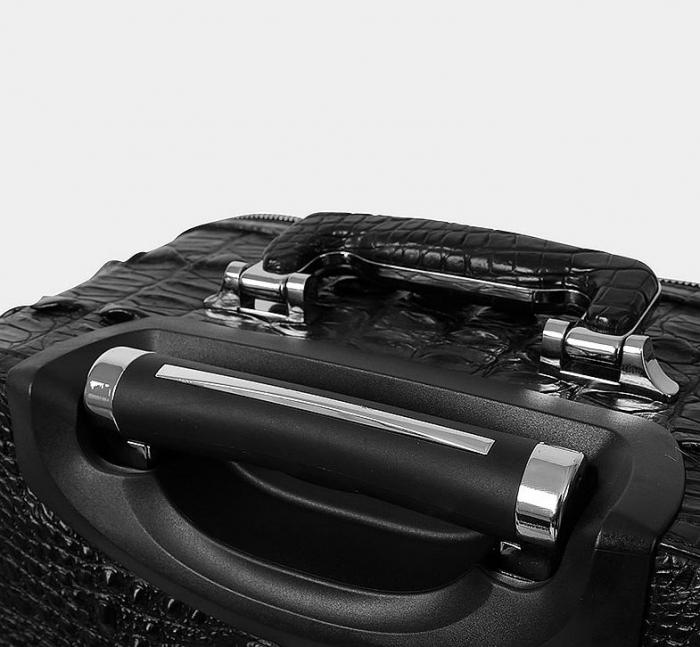 Crocodile Leather Luggage-Handle