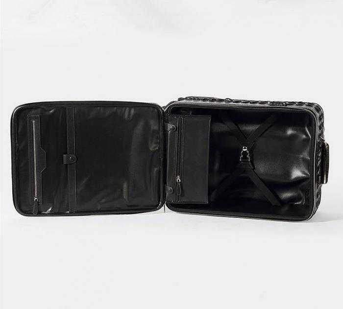 Crocodile Leather Luggage-Inside-2