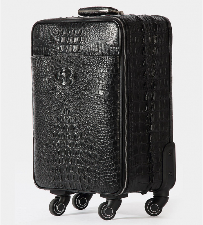 Crocodile Leather Luggage-Side
