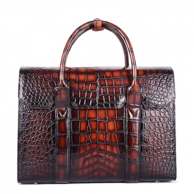 Handcrafted Alligator Briefcase Professional Business Bag for Men