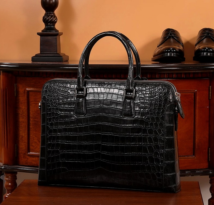 Alligator Leather Briefcase Laptop Attache Case