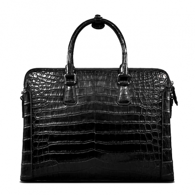 Alligator Leather Briefcase Laptop Attache Case for Men