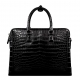 Alligator Leather Briefcase Laptop Attache Case for Men-Back