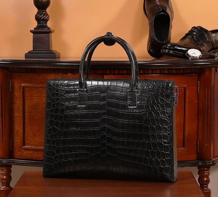 Alligator Leather Briefcase Laptop Business Bag