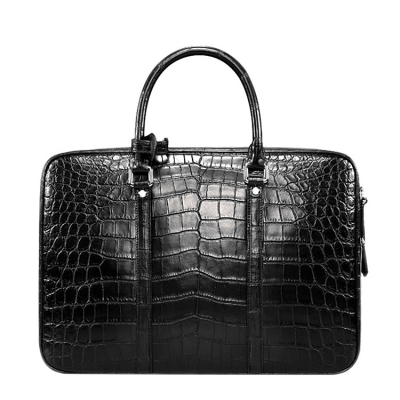 Classic Alligator Leather Laptop Briefcase Business Bag for Men