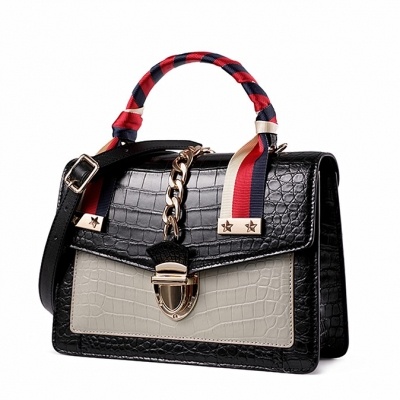Fashion Small Alligator Skin Shoulder Handbags-Micro side