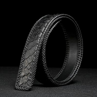 Handmade Snakeskin Belts Python Skin Belts-Black
