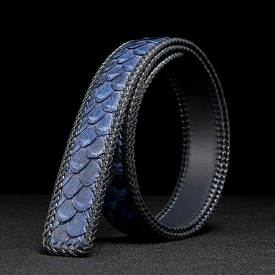 Handmade Snakeskin Belts Python Skin Belts-Brown