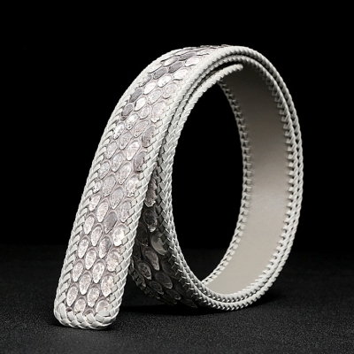 Handmade Snakeskin Belts Python Skin Belts-White