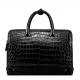 Alligator Leather Double Compartment Briefcase Laptop Bag for Men