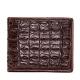 Crocodile Backbone Skin Bifold Wallet-Brown