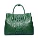 Crocodile Shoulder Tote Bag Crossbody Handbag for Women-Green-1