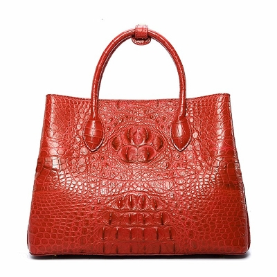 Crocodile Shoulder Tote Bag Crossbody Handbag for Women-Red