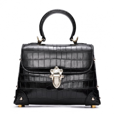 Designer Alligator Top Handle Purse Shoulder Handbag