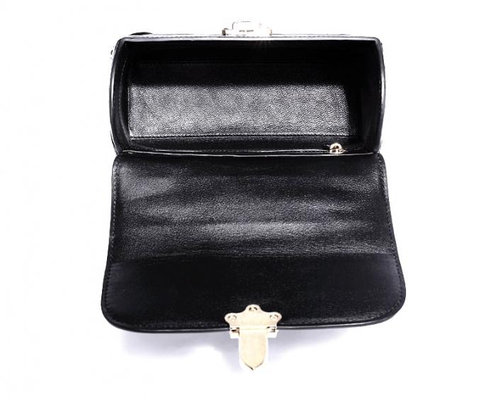 Designer Alligator Top Handle Purse Shoulder Handbag-Inside
