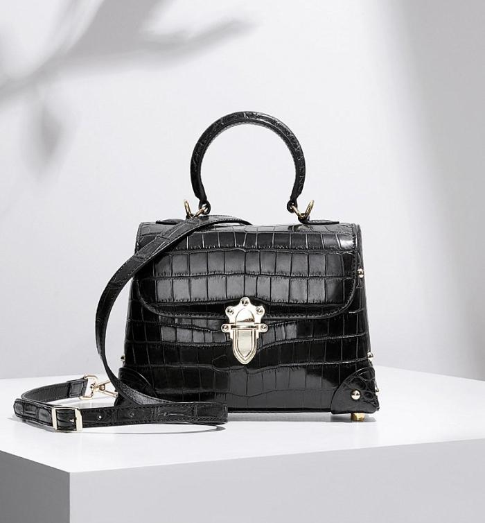 Designer Alligator Top Handle Purse Shoulder Handbag for Women