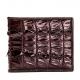 Mens Crocodile Tail Skin Bifold Wallet - Brown