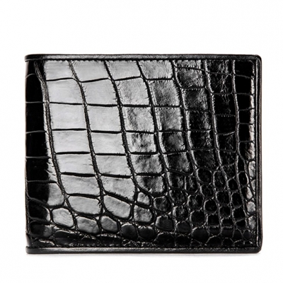 Premium Crocodile Bifold Wallet-Black