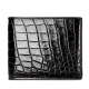 Premium Crocodile Bifold Wallet-Black