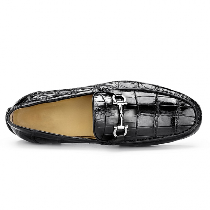 Alligator Penny Loafers Driving Style Moccasin Shoes-Upper