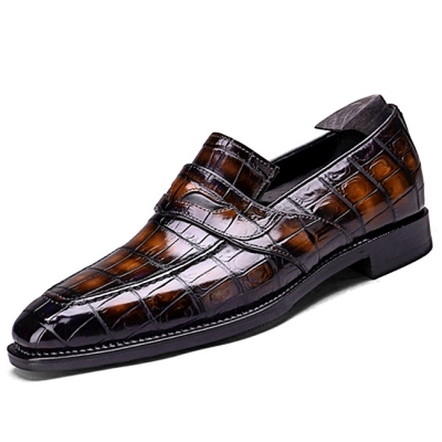 Alligator Penny Loafers Formal Slip-On Shoes